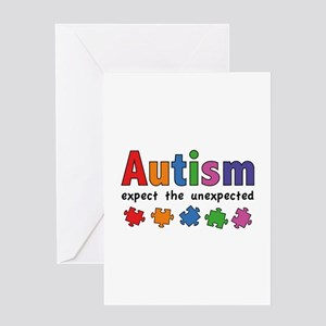 Autism Expect the unexpected Greeting Card