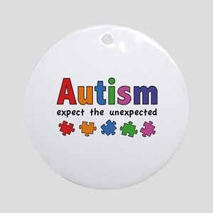 Autism Expect the unexpected Ornament (Round)