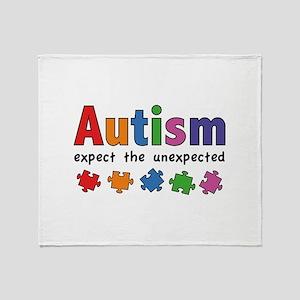 Autism Expect the unexpected Stadium Blanket