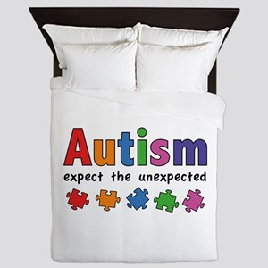 Autism Expect the unexpected Queen Duvet