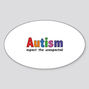 Autism Expect the unexpected Sticker (Oval)