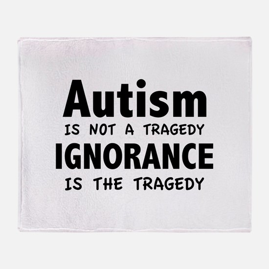 Autism Is Not A Tragedy Stadium Blanket