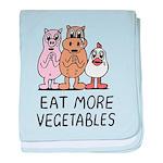 Eat more vegetables baby blanket