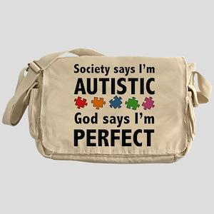 God Says I'm Perfect Messenger Bag