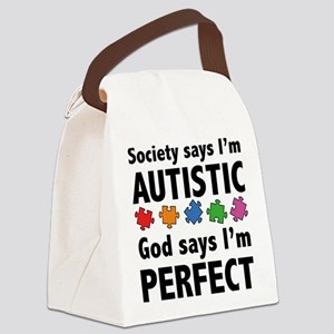 God Says I'm Perfect Canvas Lunch Bag