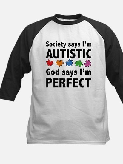 God Says I'm Perfect Kids Baseball Jersey