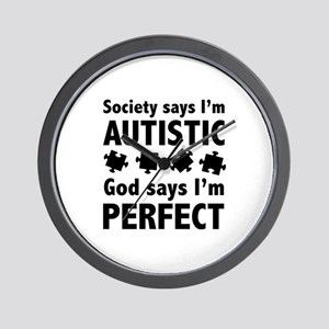 God Says I'm Perfect Wall Clock