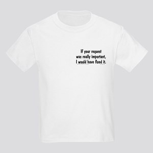 Req. Important... Kids Light T-Shirt