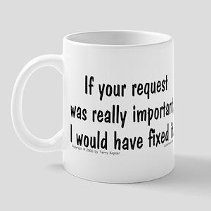 Req. Important... Mug