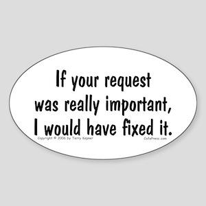 Req. Important... Oval Sticker
