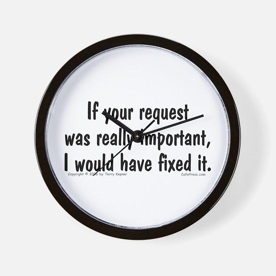 Req. Important... Wall Clock