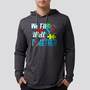 JIGSAW PUZZLE FIT WELL TOGETHER  Mens Hooded Shirt