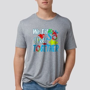 JIGSAW PUZZLE FIT WELL TOGE Mens Tri-blend T-Shirt