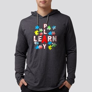 JIGSAW PUZZLE LEARN AND PLAY SHI Mens Hooded Shirt