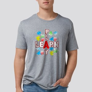 JIGSAW PUZZLE LEARN AND PLA Mens Tri-blend T-Shirt