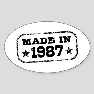 Made In 1987 Sticker (Oval)