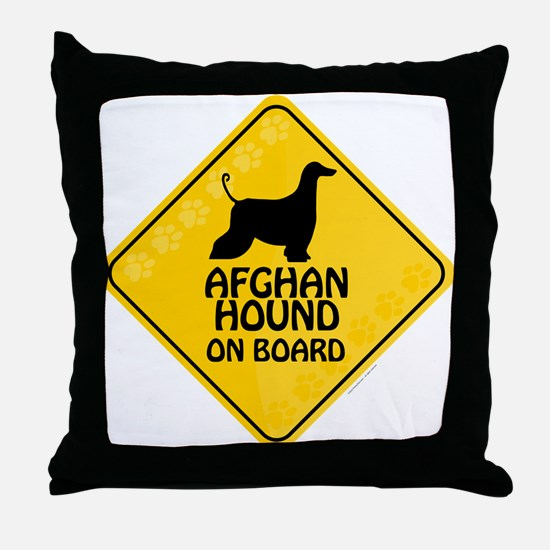 Afghan On Board Throw Pillow