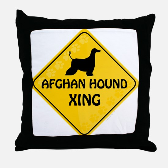 Afghan Xing Throw Pillow