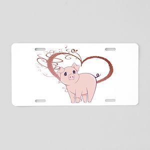 Cute Piggy Art Aluminum License Plate