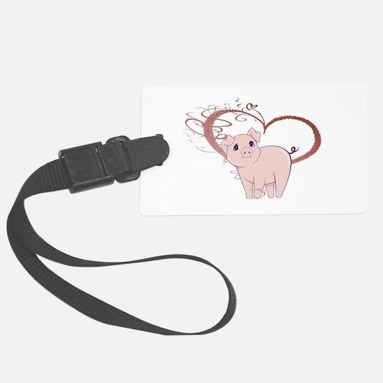 Cute Piggy Art Luggage Tag
