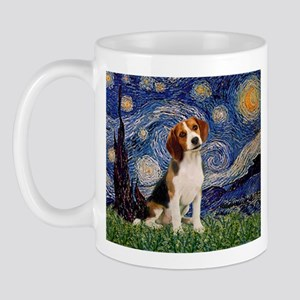 Starry Night & Beagle Pup Mug