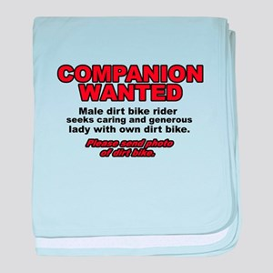 Companion Wanted Dirt Bike Motocross Funny baby bl
