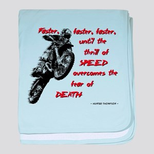 Faster Dirt Bike Motocross Quote Saying baby blank