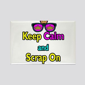 Crown Sunglasses Keep Calm And Scrap On Rectangle