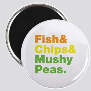 Fish and Chips and Mushy Peas. Magnet