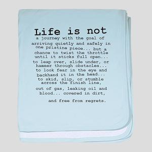 Life Is Not Dirt Bike Motocross Shirt baby blanket