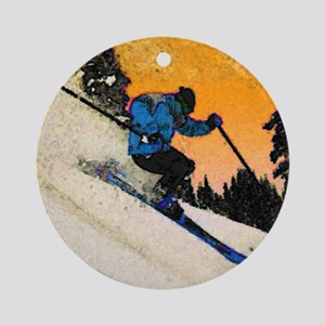 skier1 Ornament (Round)