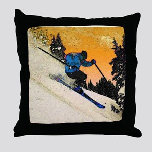 skier1 Throw Pillow