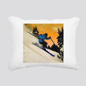 skier1 Rectangular Canvas Pillow