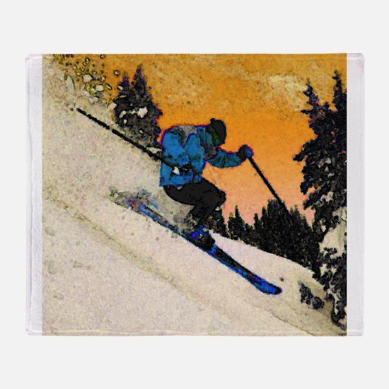 skier1 Throw Blanket