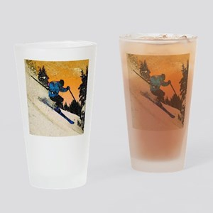 skier1 Drinking Glass