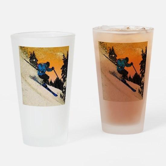 skier1 Drinking Glass