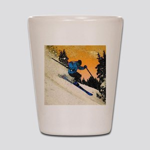 skier1 Shot Glass