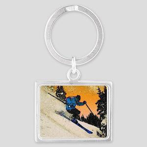 skier1 Keychains