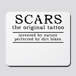 Scars Original Tattoo Dirt Bike Motocross Funny Mo