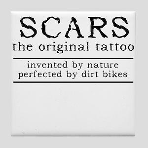 Scars Original Tattoo Dirt Bike Motocross Funny Ti