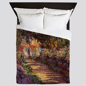 Pathway at Giverny Queen Duvet