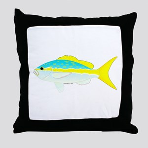 Yellowtail Snapper fish Throw Pillow