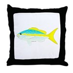 Yellowtail Snapper fish Throw Pillow