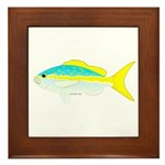 Yellowtail Snapper fish Framed Tile