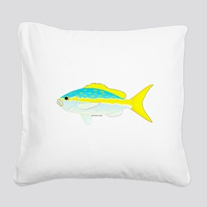Yellowtail Snapper fish Square Canvas Pillow