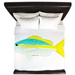 Yellowtail Snapper fish King Duvet