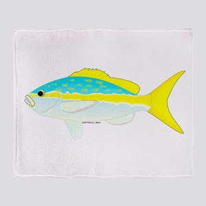 Yellowtail Snapper fish Throw Blanket