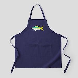 Yellowtail Snapper fish Apron (dark)