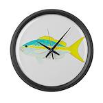 Yellowtail Snapper fish Large Wall Clock