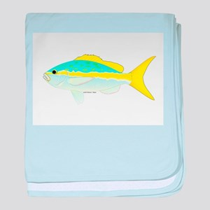 Yellowtail Snapper fish baby blanket